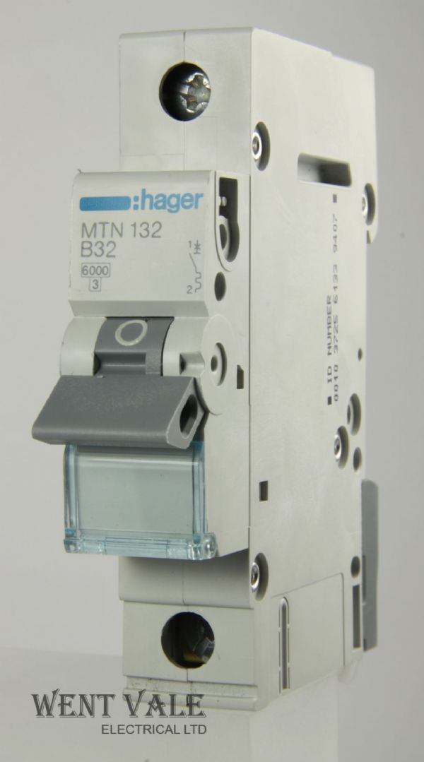 Hager MTN132 - 32a Type B Single Pole MCB New